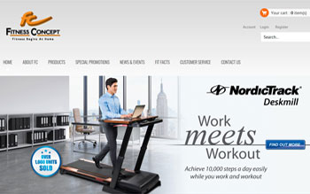 Fitness Concept Retail Chain - Web Design in Malaysia