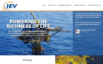 IEV Group Oil & Gas - Web Design in Malaysia