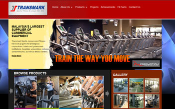 Transmark Fitness Equipment - Web Design in Malaysia