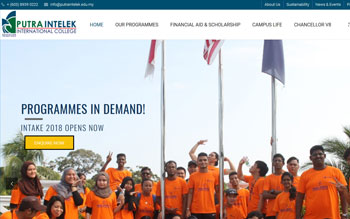 Putra Intelek International College - Web Design in Malaysia