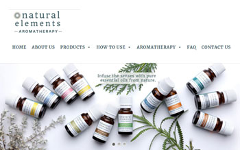 Natural Elements Aromatherapy - Web Design in Malaysia