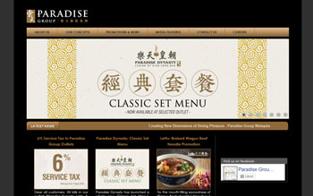Paradise Group - Web Design in Malaysia