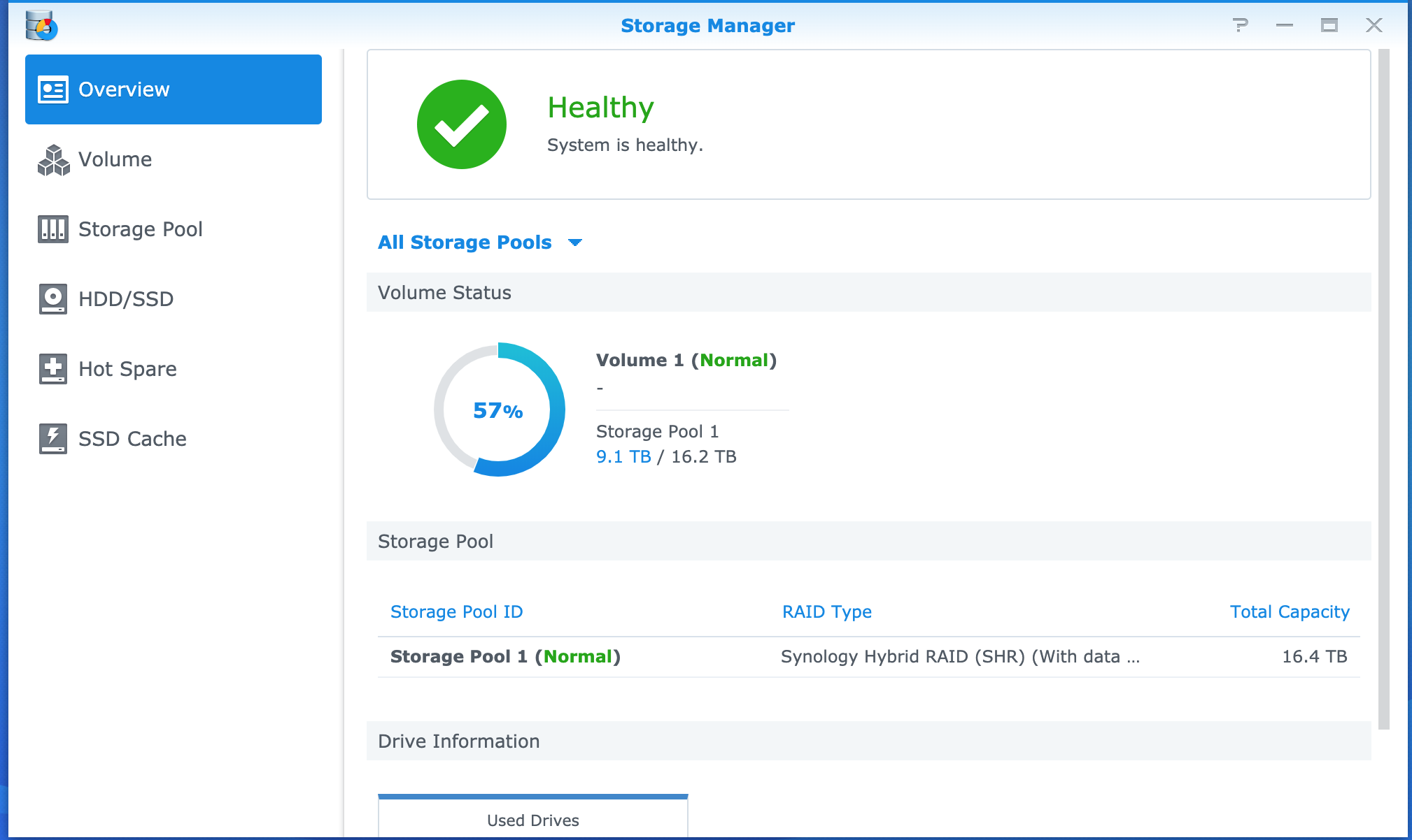 Synology - Storage Manager